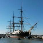 Valečná loď admirála Nelsona Victory v Portsmouth